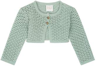 Paz Rodriguez Cropped Knitted Cardigan