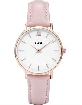 Cluse Minuit Rose Gold White-Pink