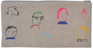 K Studio Home Embroidered Folks Pouch