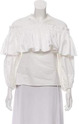 Alexis Off-Shoulder Pleated Top