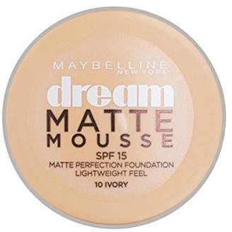 Maybelline Dream Matte Mousse Foundation 10 Ivory 10ml (Pack of 2)