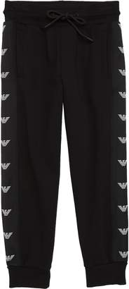 Armani Junior Logo Stripe Jogger Pants
