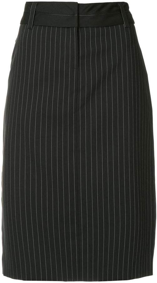 We11done straight pinstripe skirt
