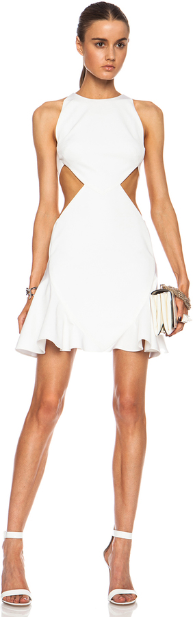 Cushnie Et OchsCushnie et Ochs FORWARD EXCLUSIVE Flared Viscose-Blend Dress with Side Cutouts
