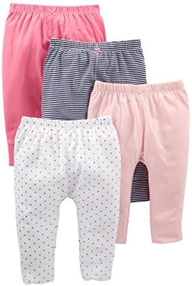Carter's Simple Joys by Baby Girls' 4-Pack Pant