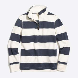 J.Crew Factory Boys' striped sueded half-zip popover sweatshirt