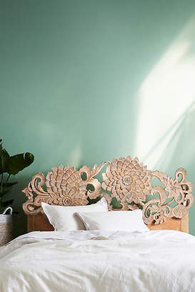 Anthropologie Handcarved Lotus Bed