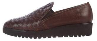 Sesto Meucci Woven Leather Loafers