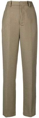 Cavallini Erika high waist houndstooth trousers