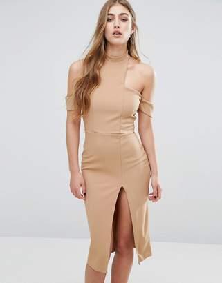 Missguided Cut Out Choker Midi Dress