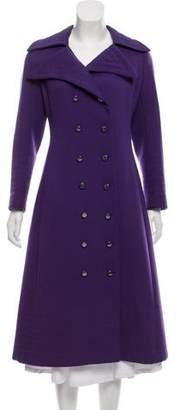 Pierre Balmain Double-Breasted Longline Coat
