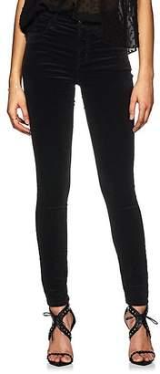 J Brand Women's Maria Velvet High-Rise Skinny Jeans