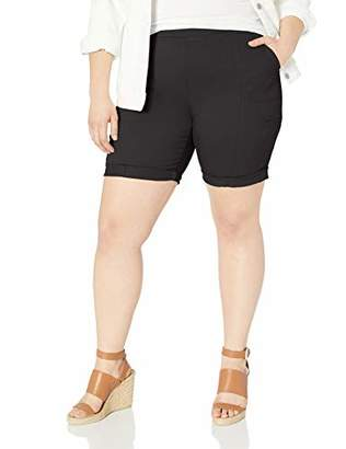 Lee Women's Plus Size Flex-to-Go Relaxed Fit Pull-On Cargo Bermuda Short