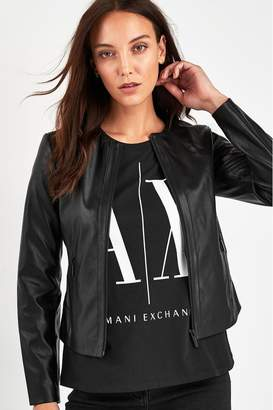 Armani Exchange Womens Black Eco Jacket - Black