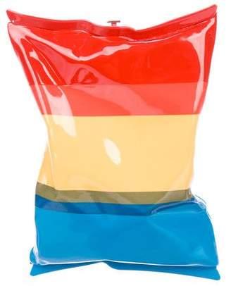 Anya Hindmarch Rainbow Striped Clutch