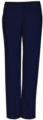 Real School Girls Plus Flat Front Low Rise Pant School Uniform Approved (Big Girls)