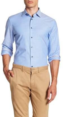 14th & Union Micro Stripe Trim Fit Shirt