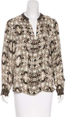L'Agence Long Sleeve Printed Top