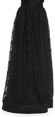 St. John Collection Camellia Crochet Lace Gown Skirt $1,695 thestylecure.com