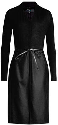Paule Ka Virgin Wool Dress with Belt