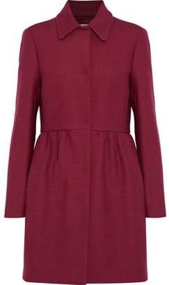 RED Valentino Cotton-Blend Twill Peplum Coat