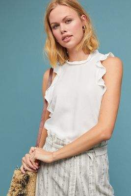 Cloth & Stone Ruffled Tank Top