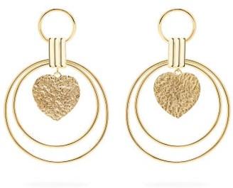 Joelle Gagnard Kharrat - Hearts Gold Plated Drop Earrings - Womens - Gold