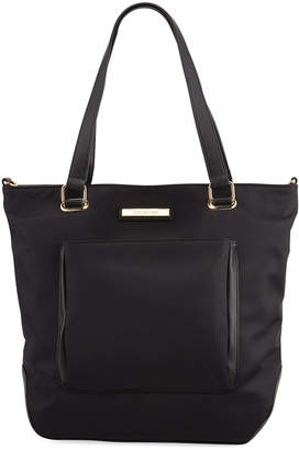 Calvin Klein Nylon Top-Zip Tote Bag