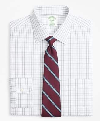 Brooks Brothers Milano Slim-Fit Dress Shirt, Non-Iron Overcheck Windowpane