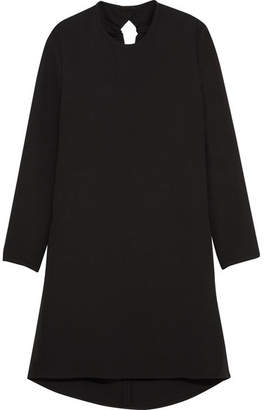 Victoria Beckham Victoria, Gathered Cutout Crepe Mini Dress - Black