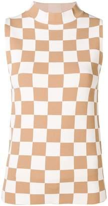 Jil Sander checkerboard tank top