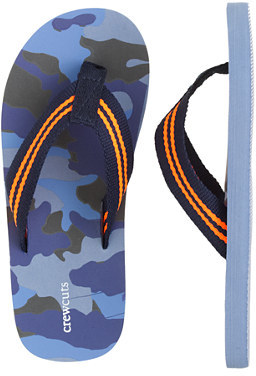 J.Crew Kids' camo flip-flops in blue