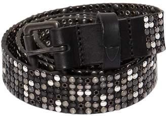 30mm Studded Vintage Leather Belt