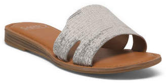 Leather One Band Flat Sandals