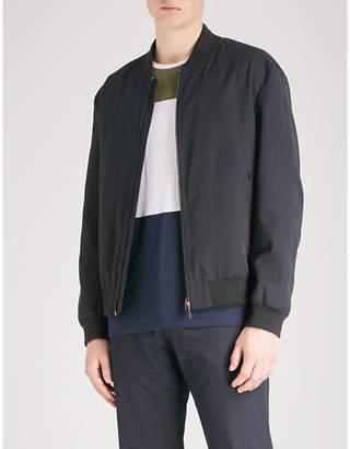 HUGO Stand-collar shell bomber jacket