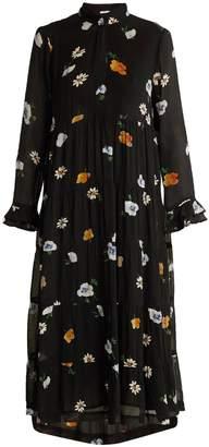 Ganni Dainty floral-print crepe-georgette dress