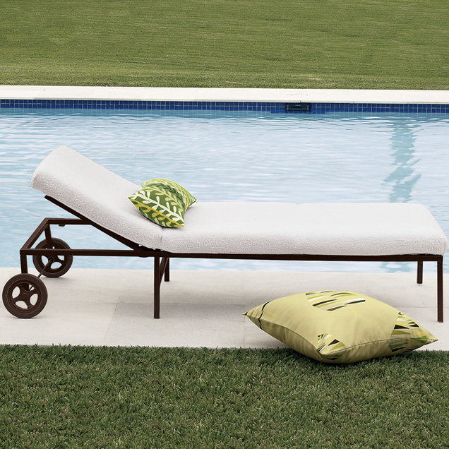 Square Metal Lounger