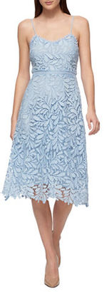 Guess Soft V-Neck Lace Dress $138 thestylecure.com