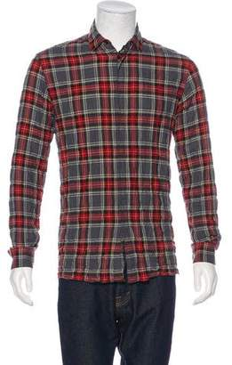Haider Ackermann Plaid Herringbone Shirt