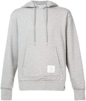 Thom Browne Center-Back Stripe Loopback Knit Pullover Hoodie
