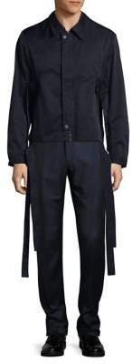 Carlos Campos Belted Zip-Front Jacket