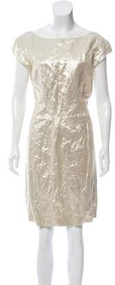 Pollini Cap Sleeve Knee-Length Dress