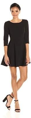 Halston Women's Elbow Sleeve Scoop Neck Dress
