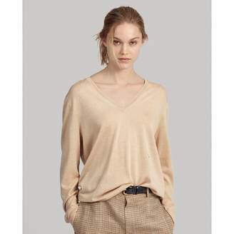 Ralph Lauren Silk-Blend V-Neck Sweater