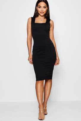 boohoo Square Neck Sleeveless Midi Dress