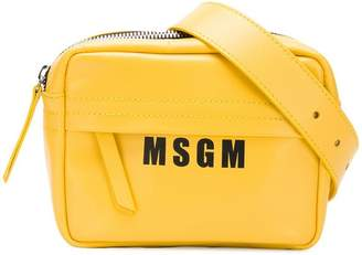 MSGM top zip belt bag