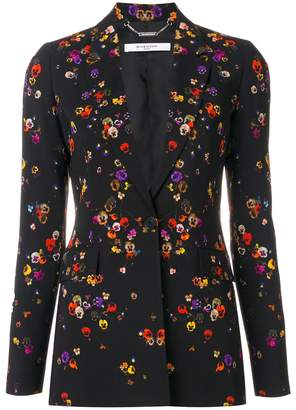 Givenchy night pansies print blazer