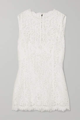 Dolce & Gabbana Corded Lace Top - White
