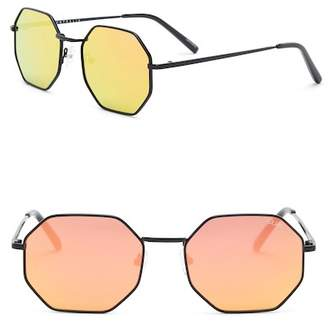 Quay On a Dime 55mm Octagonal Sunglasses