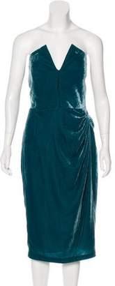 Cushnie et Ochs Velvet Strapless Dress